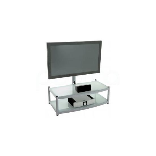 Atacama Cantilever 2 Shelf TV Stand - Silver