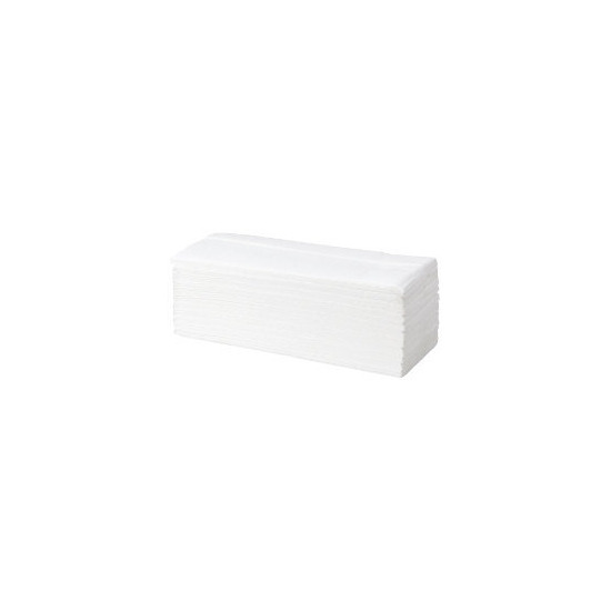 Office Depot 2-ply hand towels bright white S-fold - box of 20 sleeves
