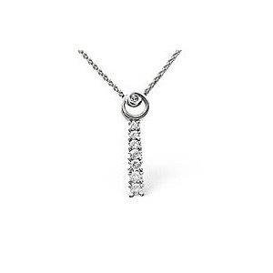 Photo of The Diamond Store Drop Necklace 0 22CT Diamond 9K White Gold Jewellery Woman