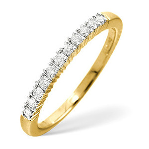 Photo of 1/2 Eternity Ring 0.30CT Diamond 9K Yellow Gold Jewellery Woman