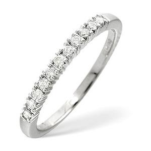 Photo of 1/2 Eternity Ring 0.30CT Diamond 9K White Gold Jewellery Woman