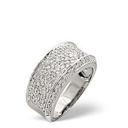 Wide Ring 0.94CT Diamond 9K White Gold Reviews