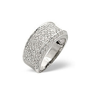 Photo of Wide Ring 0.94CT Diamond 9K White Gold Jewellery Men
