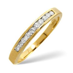 Photo of 1/2 Eternity Ring 0.20CT Diamond 9K Yellow Gold Jewellery Woman