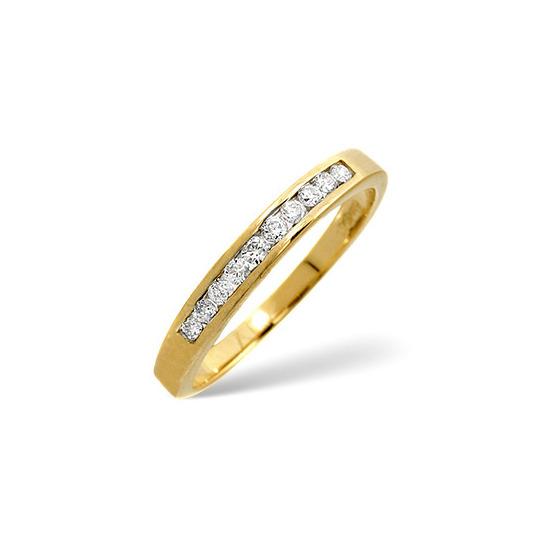 1/2 Eternity Ring 0.20CT Diamond 9K Yellow Gold