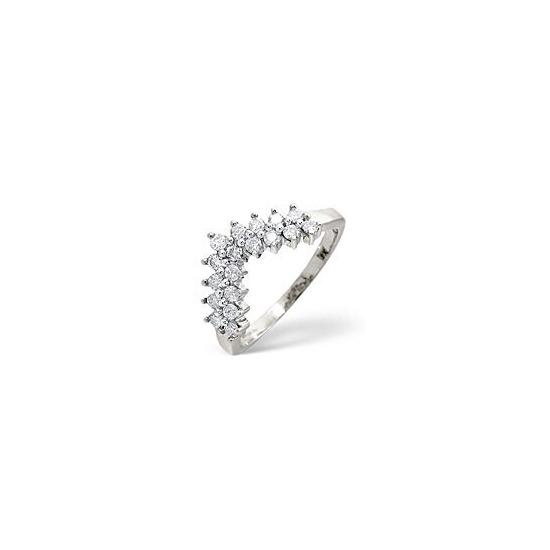 Wishbone Ring 0.45CT Diamond 9K White Gold