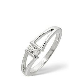 2 Stones Ring 0.08CT Diamond 9K White Gold Reviews