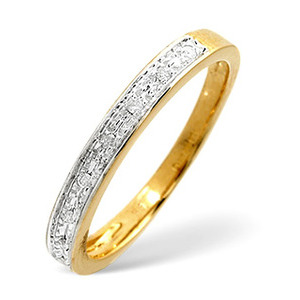 Photo of 1/2 Eternity Ring 0.05CT Diamond 9K Yellow Gold Jewellery Woman