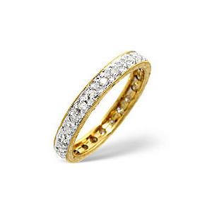 Photo of Eternity Ring 0.33CT Diamond 9K Yellow Gold Jewellery Woman