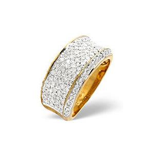 Photo of Wide Ring 0.94CT Diamond 9K Yellow Gold Jewellery Woman