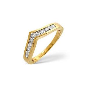 Photo of Wishbone Ring 0.27CT Diamond 9K Yellow Gold Jewellery Woman