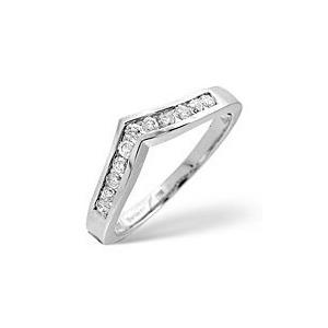 Photo of Wishbone Ring 0.27CT Diamond 9K White Gold Jewellery Woman