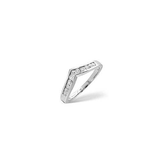 Wishbone Ring 0.27CT Diamond 9K White Gold