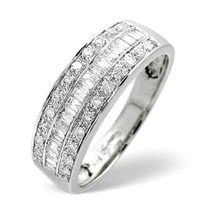Photo of 1/2 Eternity Ring 0.22CT Diamond 9K White Gold Jewellery Woman