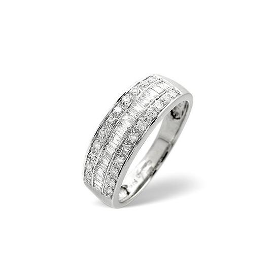 1/2 Eternity Ring 0.22CT Diamond 9K White Gold
