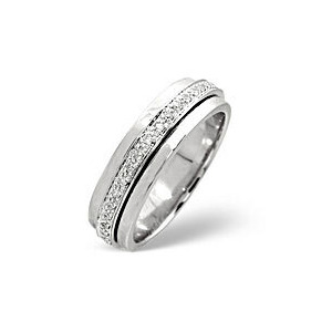 Photo of Spinners Ring 0.25CT Diamond 9K White Gold Jewellery Woman