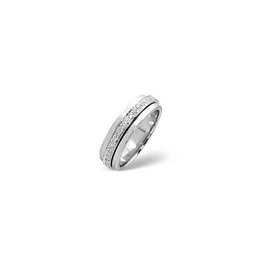 Spinners Ring 0.25CT Diamond 9K White Gold