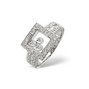 Photo of The Diamond Store Floating Diamonds Ring 0 25CT Diamond 9K White Gold Jewellery Woman