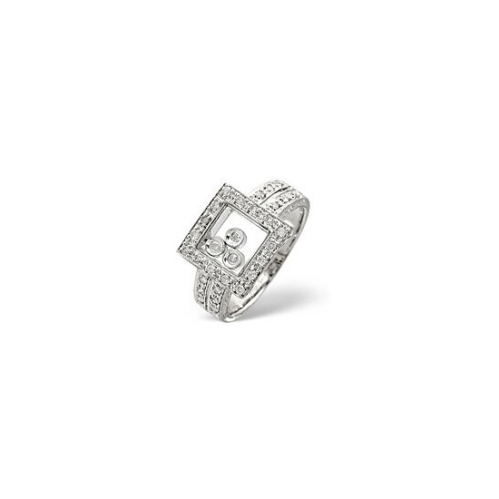 The Diamond Store Floating Diamonds Ring 0 25CT Diamond 9K White Gold