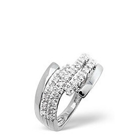 The Diamond Store Cross Over Ring 0 26CT Diamond 9K White Gold Reviews