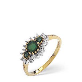 The Diamond Store Emerald Diamond Ring 9K Yellow Gold Reviews