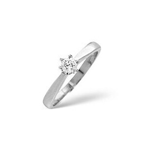 Photo of Solitaire Ring 0.15CT Diamond 9K White Gold Jewellery Woman