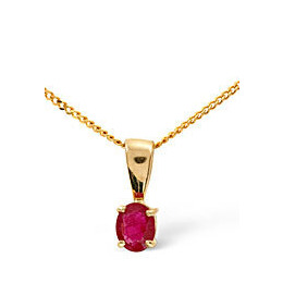 Gem-Stone Pendant  Ruby 9K Yellow Gold Reviews