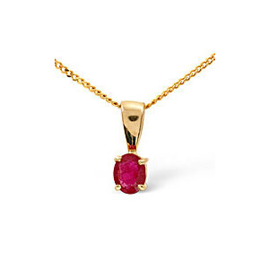 Photo of Gem-Stone Pendant  Ruby 9K Yellow Gold Jewellery Woman