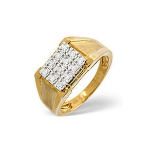Photo of The Diamond Store Mens Ring 0 23CT Diamond 9K Yellow Gold Jewellery Men