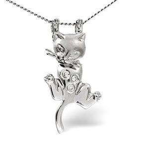 Photo of Animals Pendant 0.04CT Diamond 9K White Gold Jewellery Woman