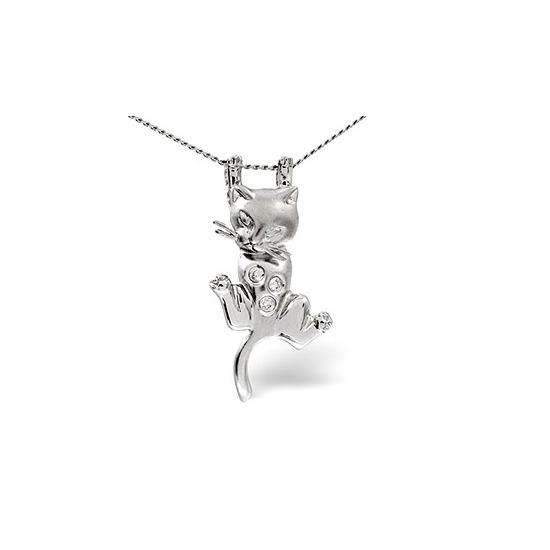 Animals Pendant 0.04CT Diamond 9K White Gold