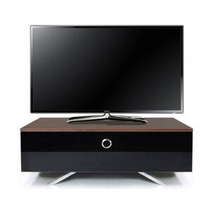 Photo of MDA DESIGNs Cubic Hybrid Walnut and Black TV Stand TV Stands and Mount