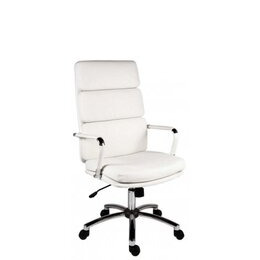 Teknik Deco 1097WH  Faux-Leather Tilting Executive Chair - White Reviews