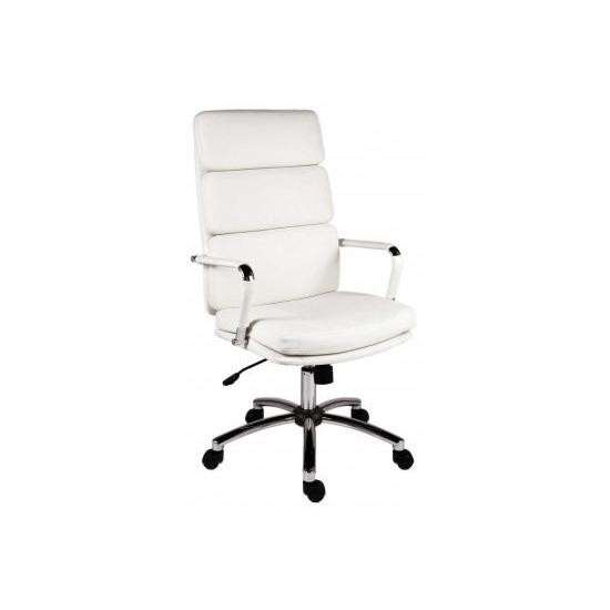 Teknik Deco 1097WH  Faux-Leather Tilting Executive Chair - White
