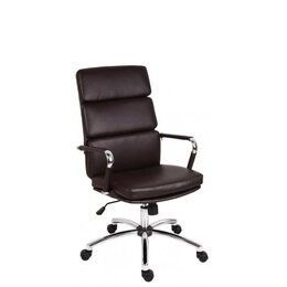 Teknik Deco 1097BN Faux-Leather Tilting Executive Chair - Brown Reviews