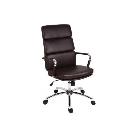 Teknik Deco 1097BN Faux-Leather Tilting Executive Chair - Brown