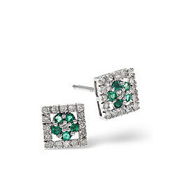 Emerald & 0.24CT Diamond Earrings 9K Yellow Gold Reviews