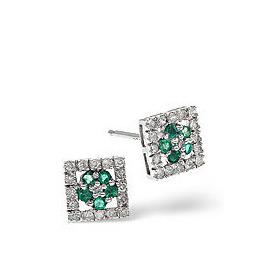 Emerald & 0.24CT Diamond Earrings 9K Yellow Gold Reviews
