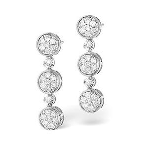 Photo of Chandelier Earrings 0.36CT Diamond 9K White Gold Jewellery Woman