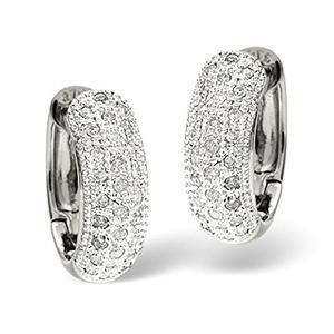 Photo of Huggy Earrings 0.33CT Diamond 9K White Gold Jewellery Woman