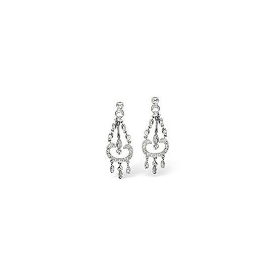 Chandelier Earrings 0.37CT Diamond 9K White Gold