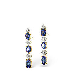 Tanzanite & 0.13CT Diamond Earrings 9K Yellow Gold Reviews