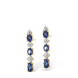 Tanzanite & 0.13CT Diamond Earrings 9K Yellow Gold Reviews