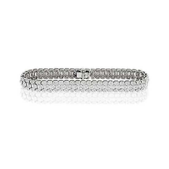 Evening Bracelet 1.00CT Diamond 9K White Gold