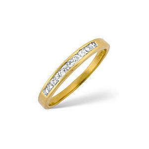 Photo of 1/2 Eternity Ring 0.15CT Diamond 18K Yellow Gold Jewellery Woman