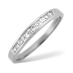 Photo of 1/2 Eternity Ring 0.15CT Diamond 18K White Gold Jewellery Woman