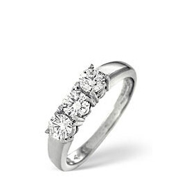 3 Stones Ring 0.50CT Diamond 18k White Gold Reviews