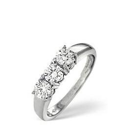 3 Stones Ring 0.50CT Diamond 18k White Gold Reviews