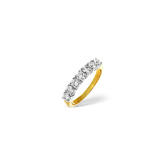 1/2 Eternity Ring 0.30CT Diamond 18K Yellow Gold