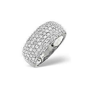 Photo of The Diamond Store H Si Pave Ring 1 35CT Diamond 18K White Gold Jewellery Woman